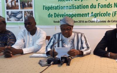Dialogue avec les pouvoirs publics pour l'opérationnalisation du FNDA